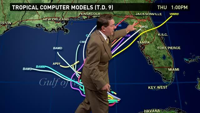 Tracking two possible tropical depressions