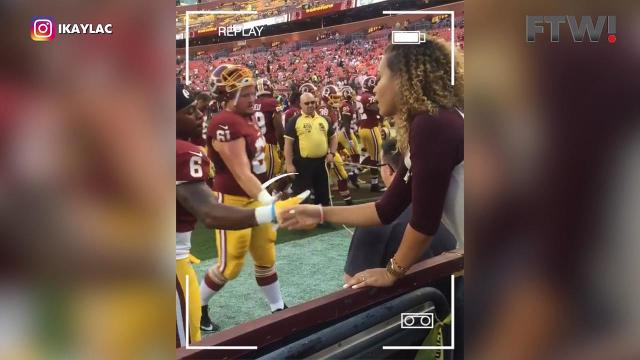 Redskins player and his girlfriend have adorable secret handshake