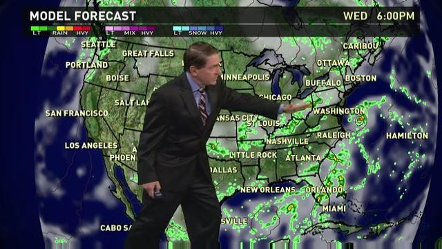 Wednesday's forecast: Rainy in Plains, Northeast and Florida