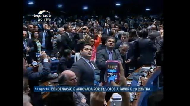 Raw: Senate Votes to Impeach Brazil's President