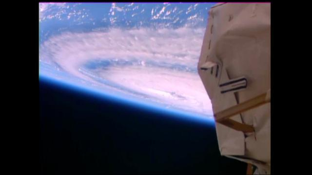 Raw:  ISS Camera Captures 3 Hurricanes
