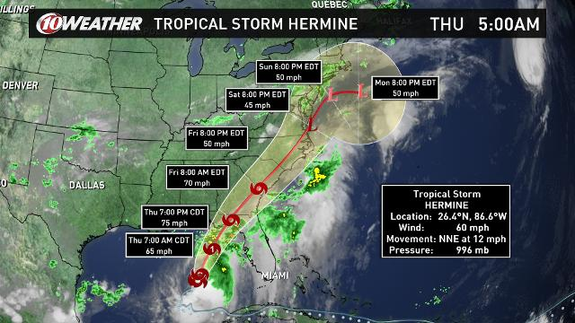 Tropical Storm Hermine eyes Florida