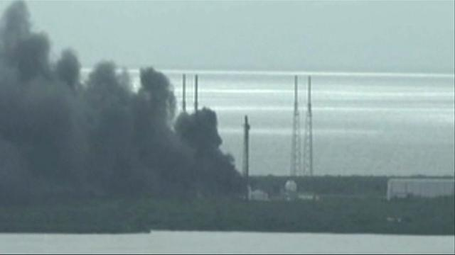 Smoke billows after SpaceX rocket explodes