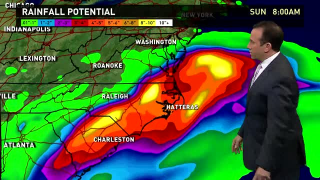 Heavy rains from Hermine continue through Labor Day weekend