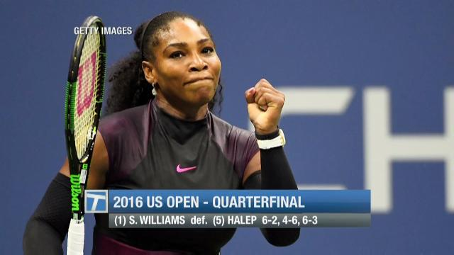 A look at quarterfinals action in New York City, which featured a hard-fought win by Serena Williams.