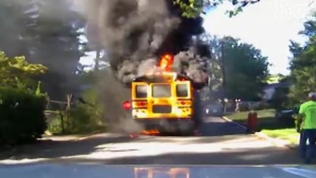 Hero school bus driver rescues all 20 students from fire