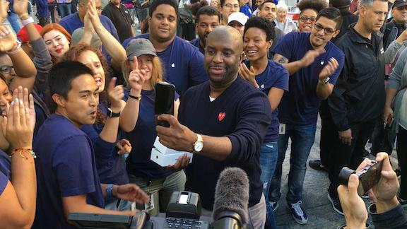 Lines significantly smaller for Apple's iPhone 7 launch in NYC