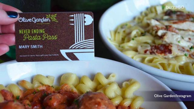 Olive Garden sells 21,000 unlimited pasta passes in less than a minute