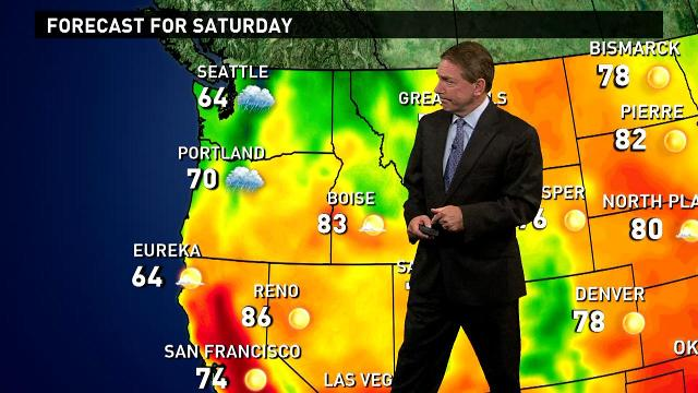Saturday's forecast: T-storms in Midwest, Southeast