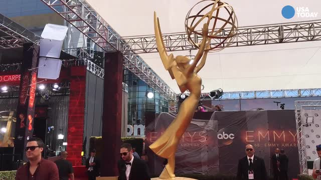 Take a preview stroll down the 68th Emmy Awards Red Carpet before the celebrities arrive.