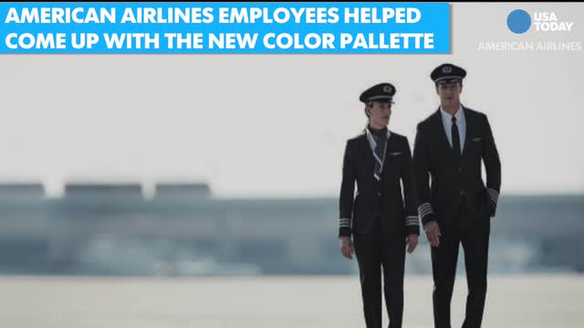 American Airlines debuts new employee uniforms.