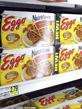 The KelloggCompany issued a voluntary recall Monday for10,000 cases ofEggo Nutri-Grain Whole Wheat Waffles due to listeria concerns.
