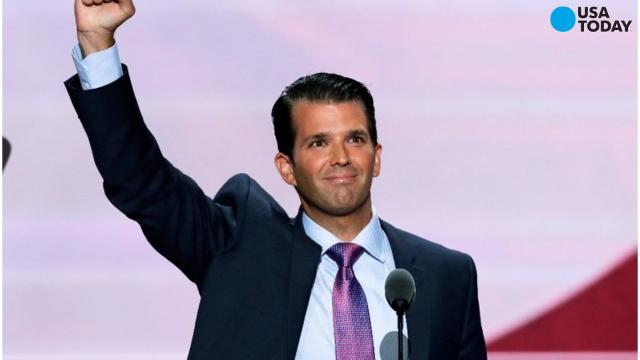 Donald Trump Jr., tweeted a graphic on Tuesday that likened Syrian refugees to Skittles, which was swiftly met with criticism.