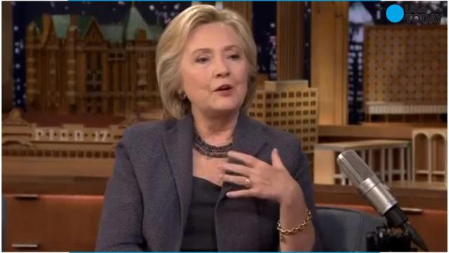 Speaking to Jimmy Fallon about balancing serious issues with keeping a campaign positive, Hillary Clinton fired back at people who criticized her for being 'serious' when talking about policy.