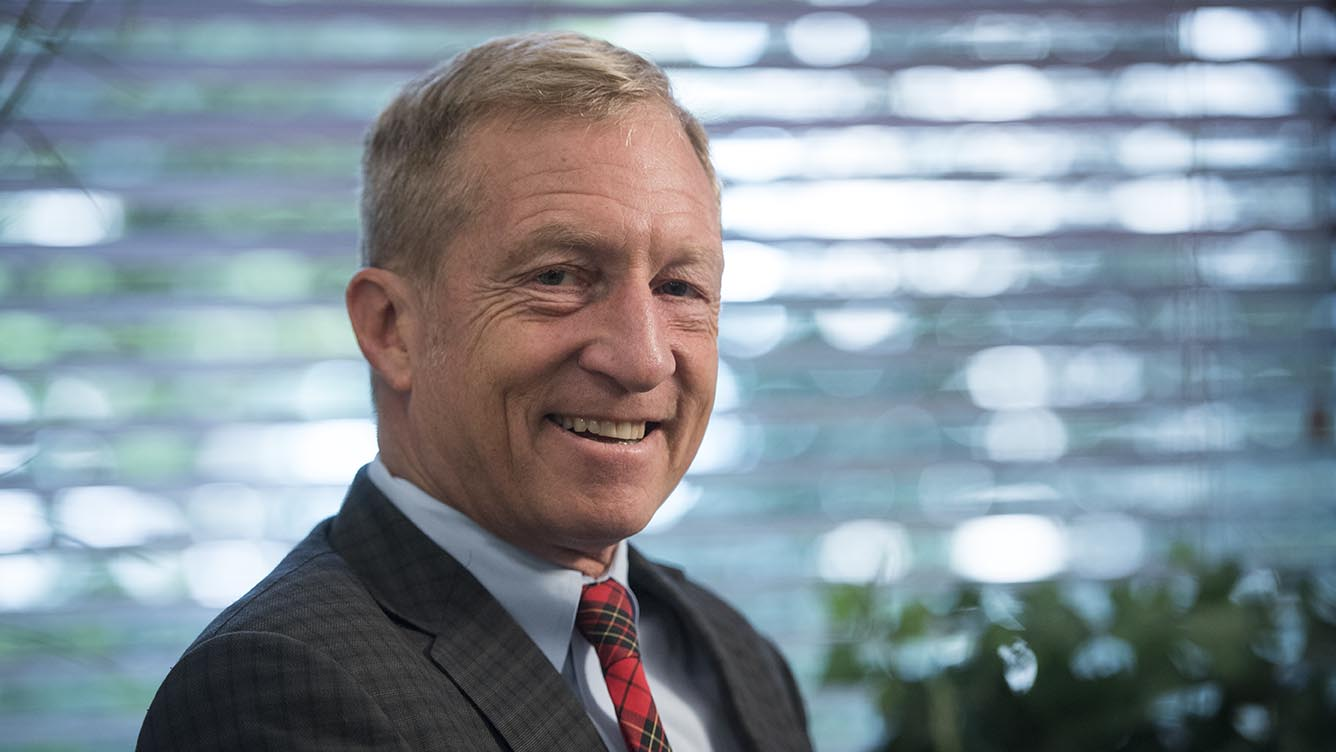 With seven weeks until Election Day, Democratic mega-donor and environmental activist Tom Steyer is trying to convince Millennials not just to support Hillary Clinton but also to show up to vote.
