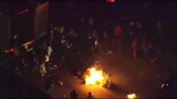 Raw: Charlotte Protesters Shut Down Freeway