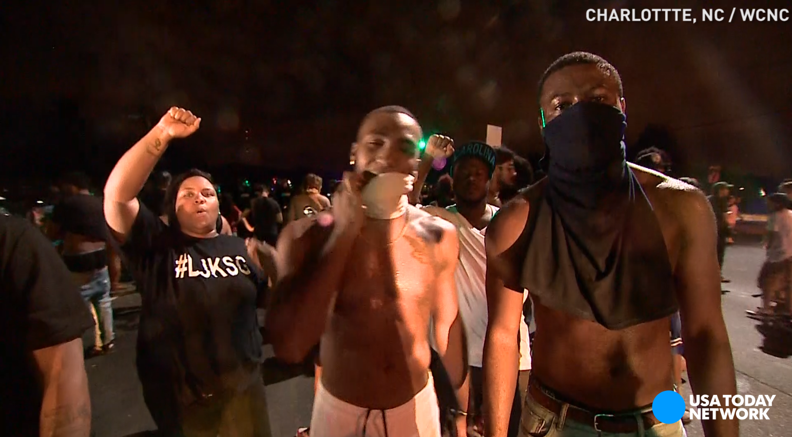 Protests erupt in Charlotte after police kill man; 12 officers hurt