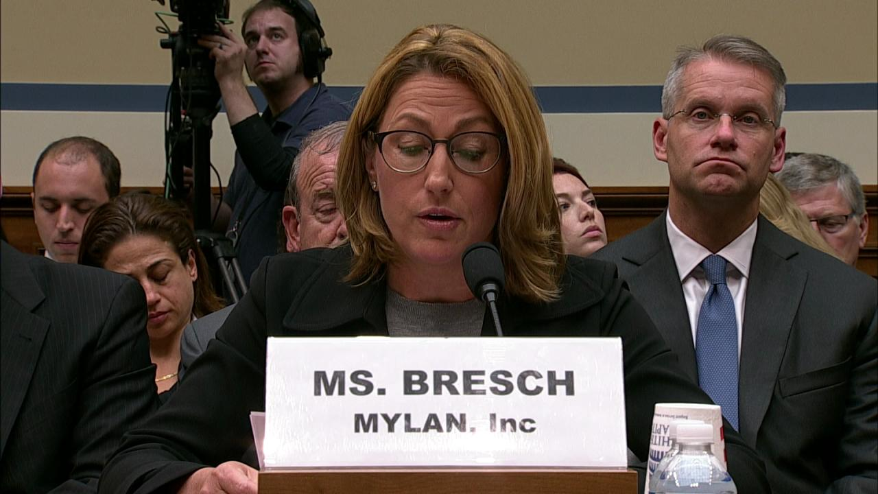 Mylan CEO defends EpiPen prices