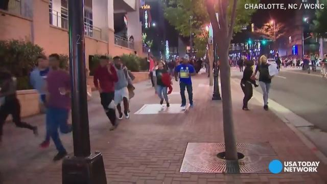 Charlotte protest turns violent