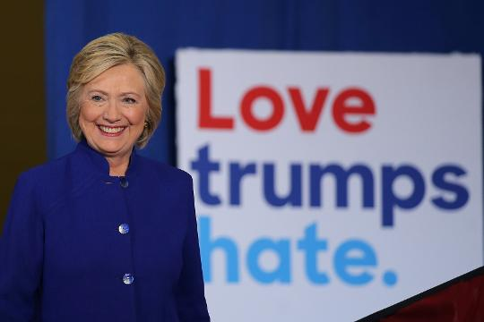 Democratic presidential nominee Hillary Clinton leads her GOP counterpart Donald Trump ahead of their first debate Monday.