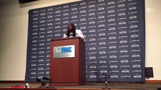 Sherman addressed the issue of police brutality in a press conference yesterday.