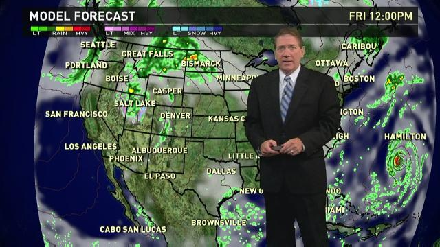 Friday's forecast: Thunderstorms from Rockies to Plains