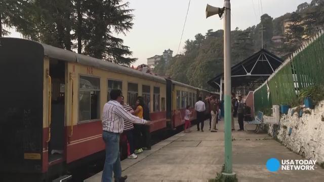 Experience the sights and sounds of an Indian toy train