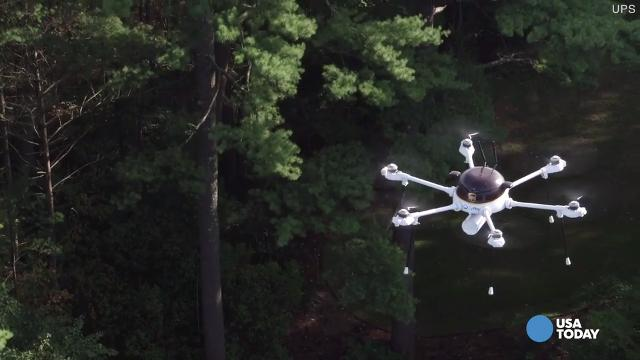 An unmanned UPS delivery drone has made a successful three-mile test flight to an island off the shore of Massachusetts.