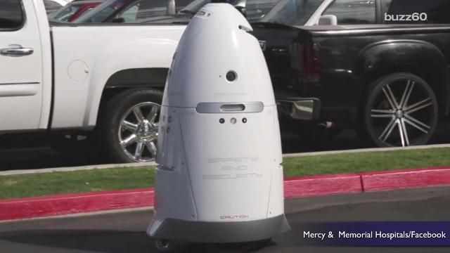An egg shaped security robot for a hospital out in Bakersfield, California is looking for name. That's where you come in! Patrick Jones (@Patrick_E_Jones) has the rest.