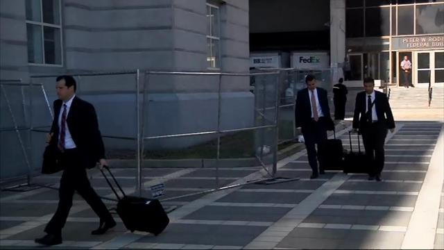 Raw: 'Bridgegate' defendants, witnesses at court