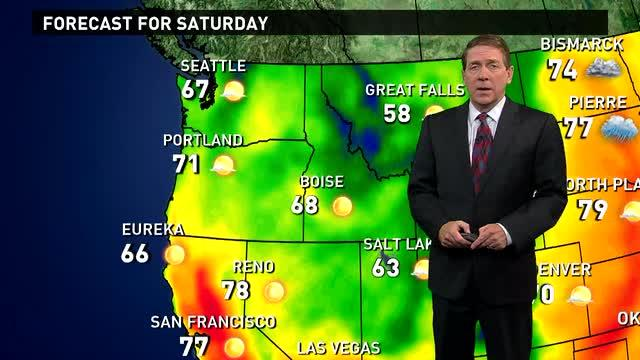 Saturday's Forecast: Rain hits the Midwest