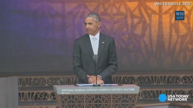 President Obama rang the bell to open the new Smithsonian's National Museum of African American History and Culture. He gave a speech about reflecting the journey of this country from slavery to freedom.