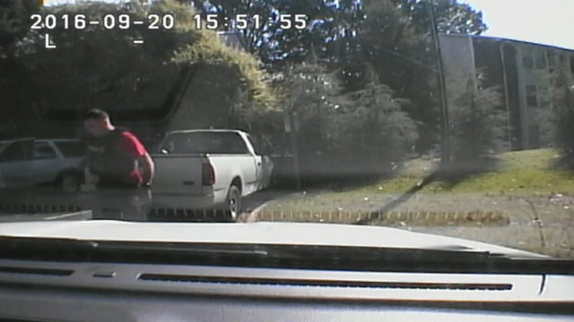 Charlotte police have released body and dashboard camera footage of the fatal shooting of black man. (Sept. 24)
