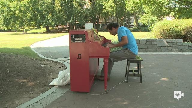 Public pianos create peace in a chaotic city