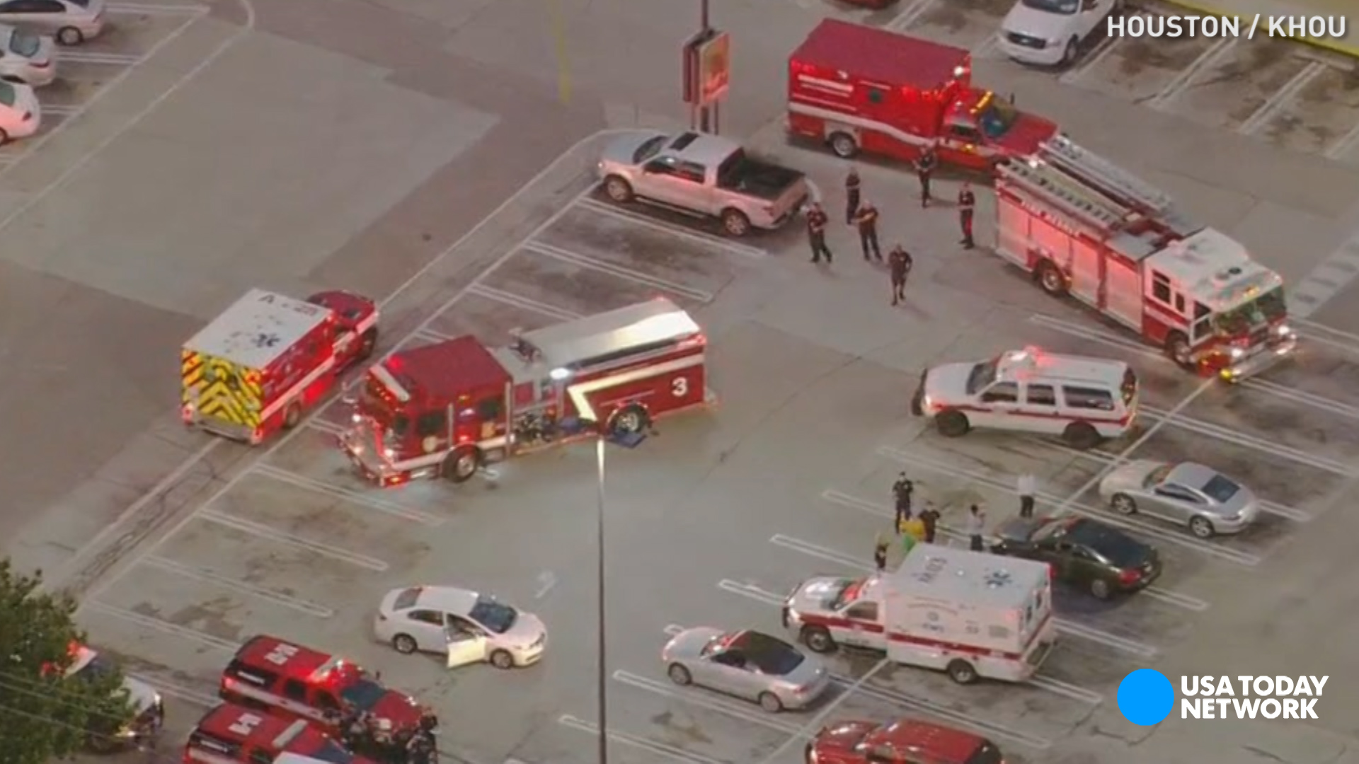 """Houston police say a local lawyer who was """"having issues with his law firm"""" opened fire near a shopping mall Monday morning."""