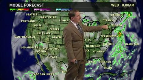 Tuesday's forecast: Showers soak the East Coast