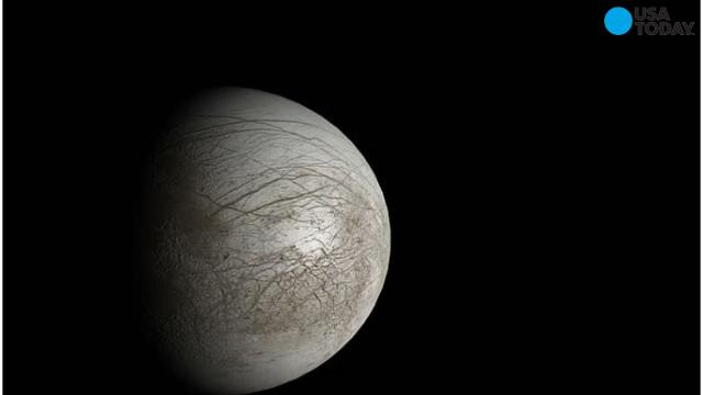 Jupiter's moon Europa might be making it rain with water vapor plumes erupting off its surface.
