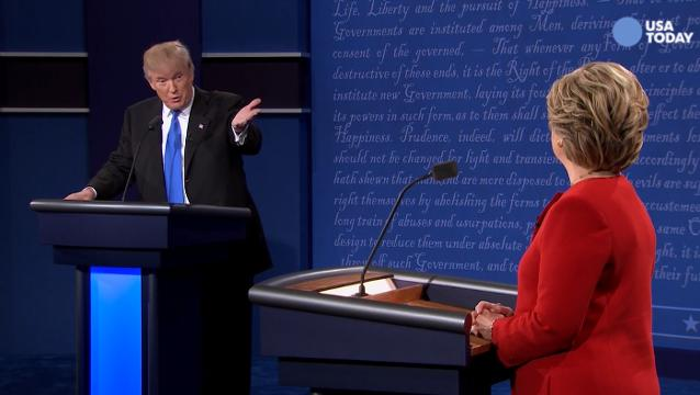 Trump to Clinton during debate: I want you to be happy