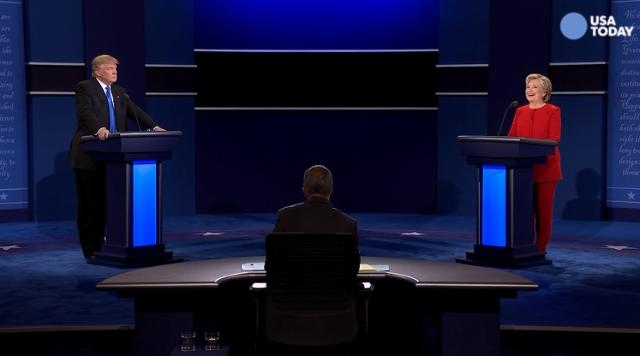 It did not take long for the presidential candidates to interrupt each other and clash during the first presidential debate.