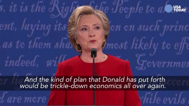 Clinton: Trump's econ plan is 'trumped up trickle-down'