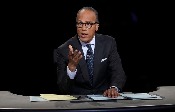 How'd Lester Holt do?