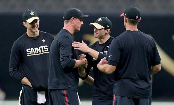 Saints, Falcons hold their own unique pregame demonstration
