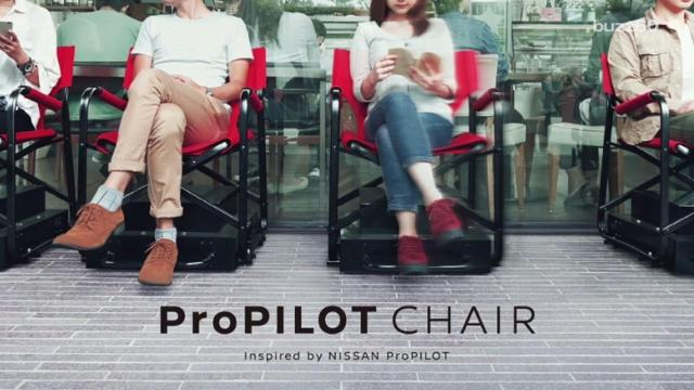 Too tired to stand in line? Nissan develops self-driving chairs
