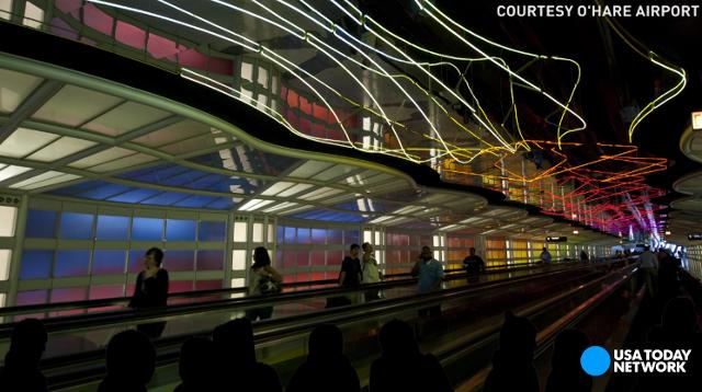 Glide through the history of airport walkways