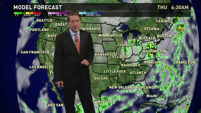 Thursday's forecast: Mid-Atlantic hit with heavy rains