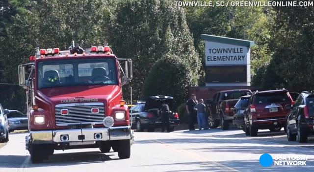 Townville Elementary students, who were evacuated from