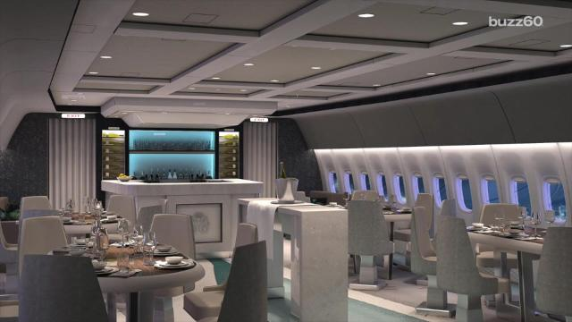 A sneak peak at a new 5-star luxury commercial jet