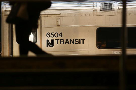 Transit train crashes at New Jersey station