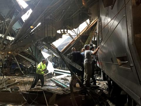 Transit train crashes at N.J. station, injuring 100