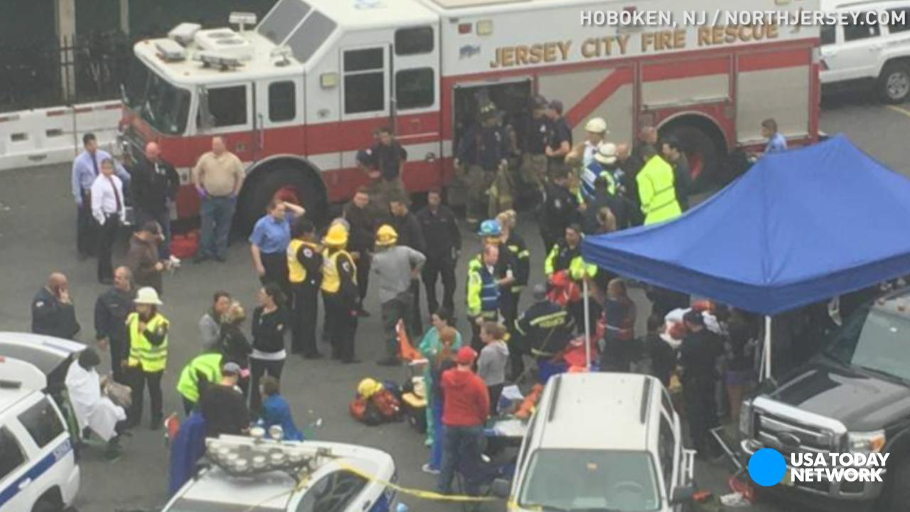 Image result for commuter train crash hoboken